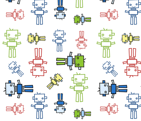 fabric_robots_2 fabric by emilyb123 on Spoonflower - custom fabric