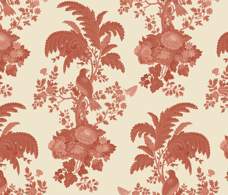 Parrot Forest Toile fabric by muhlenkott on Spoonflower - custom fabric