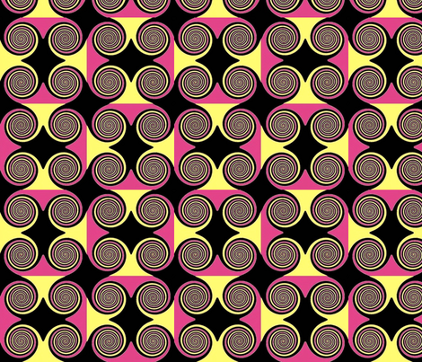 Pink Lemonade Swirl fabric by cutiepoops on Spoonflower - custom fabric