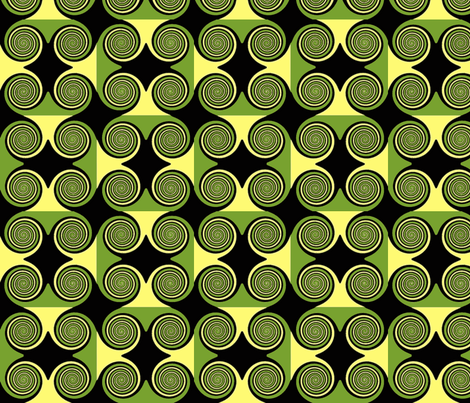 Lemon Lime Swirl fabric by cutiepoops on Spoonflower - custom fabric