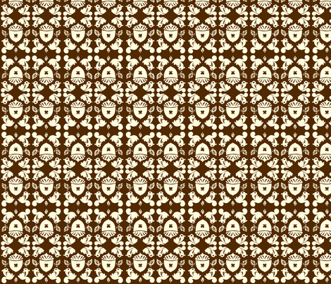Nut Damask fabric by laurawilson on Spoonflower - custom fabric