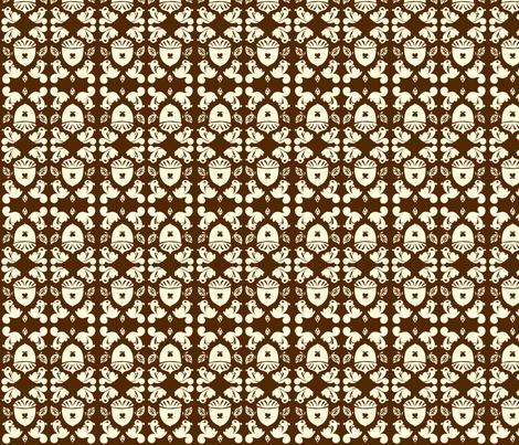 Nut Damask fabric by laurawilson on Spoonflower - custom fabric