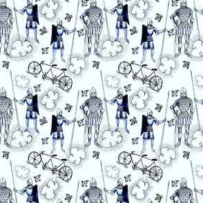 blue Knight and Day Toile
