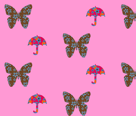 rainyflowerfly fabric by snork on Spoonflower - custom fabric