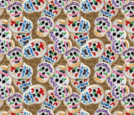 Sweet Day of the Dead fabric by hannafate on Spoonflower - custom fabric