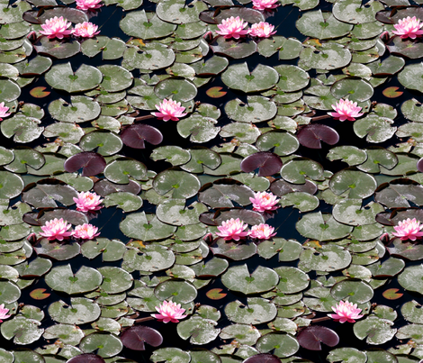 Water lilies fabric by hannafate on Spoonflower - custom fabric