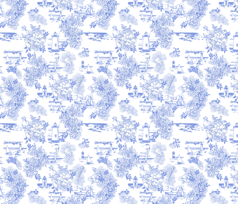 NauticalToile fabric by karidesign on Spoonflower - custom fabric