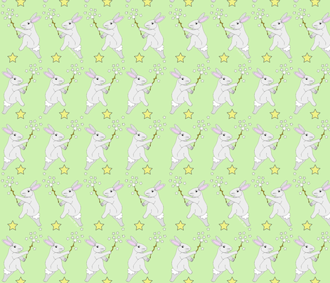 bunny_and_stars-2-vickijenkinsart fabric by vickijenkinsart on Spoonflower - custom fabric