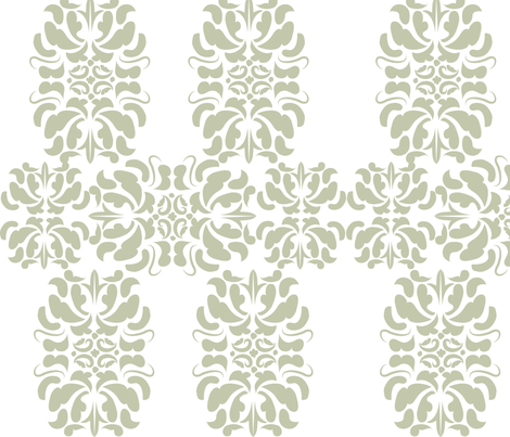 Modern Grey Damask fabric by eedeedesignstudios on Spoonflower - custom fabric