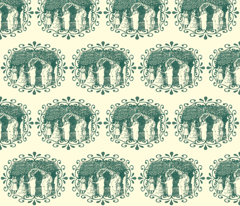 A_Garden_Wedding fabric by cksstudio80 on Spoonflower - custom fabric