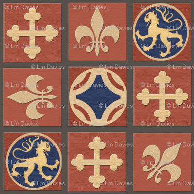 Medieval Tile Floorcloth