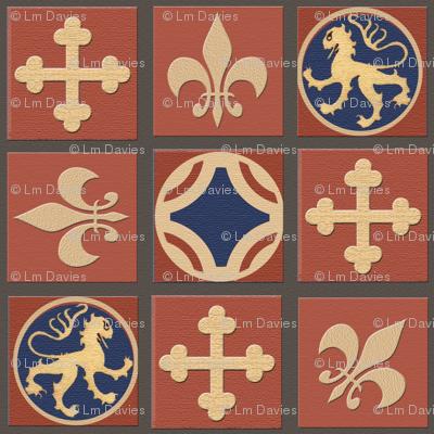 Medieval Tile Floorcloth
