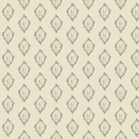 Little Hungry Bear Toile fabric by waxypin on Spoonflower - custom fabric