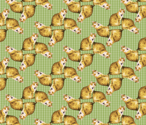 CatPatternRepeat fabric by sereniti1952 on Spoonflower - custom fabric