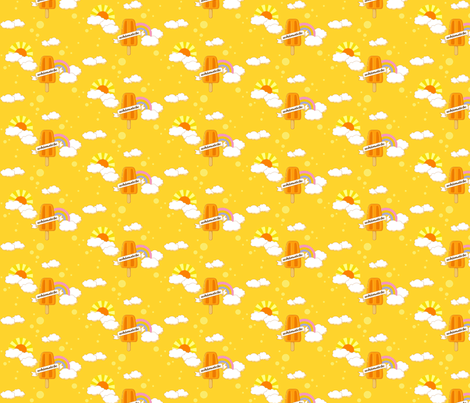 Orange Whimsicle fabric by butterwort on Spoonflower - custom fabric