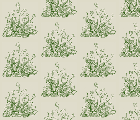 Crocus Toile fabric by calabaza on Spoonflower - custom fabric