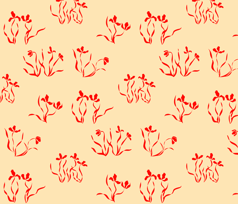 red_tulips fabric by vo_aka_virginiao on Spoonflower - custom fabric