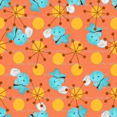 Atomic Elephant Salmon/Mustard colorway