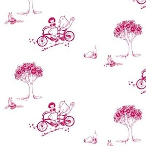Bicycle Built for Two - Toile