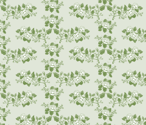 Greenfloraltoile fabric by leslipepper on Spoonflower - custom fabric