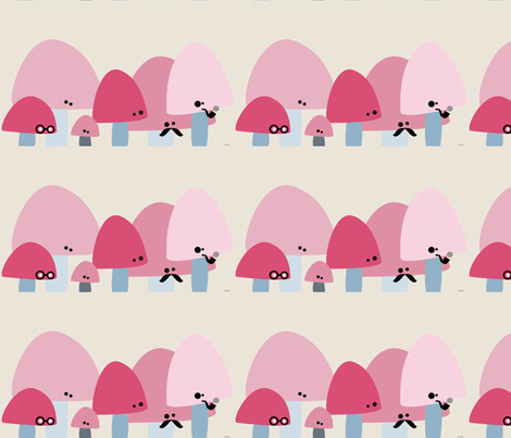 Cute mushrooms fabric by lavenderstarfish on Spoonflower - custom fabric