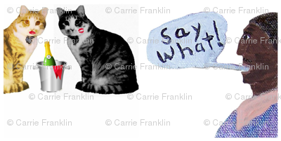 Say What: A Back Asswards Cat Fabric