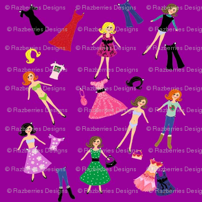 Paper Dolls Purple