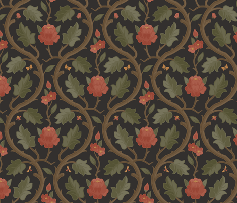 Forest Serpentine 1e fabric by muhlenkott on Spoonflower - custom fabric