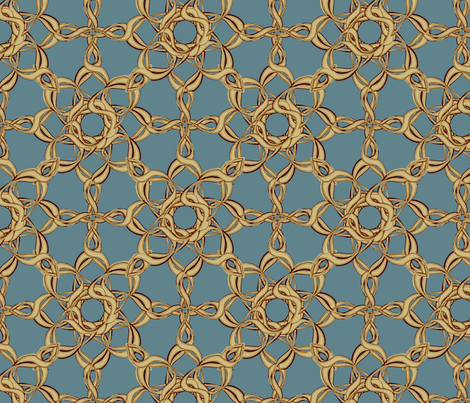 Rosettes Grand - Duck Egg Blue fabric by kristopherk on Spoonflower - custom fabric
