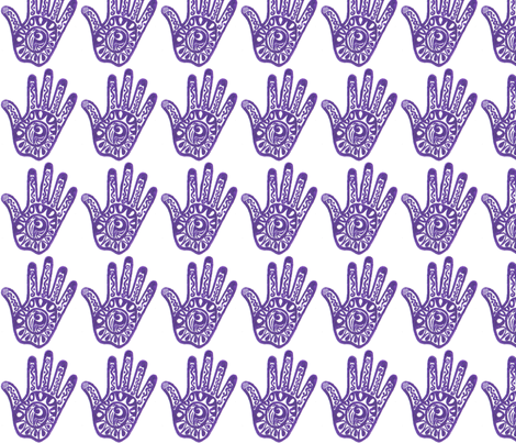purple_hand fabric by muselover on Spoonflower - custom fabric