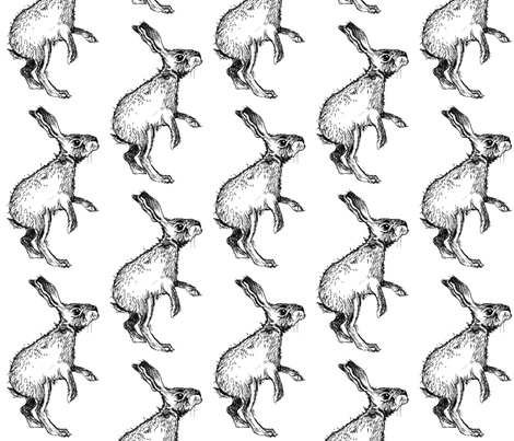 The Curious Bunny fabric by taraput on Spoonflower - custom fabric