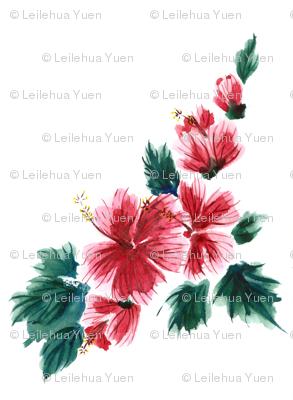 Hawaiian Hibiscus Watercolor
