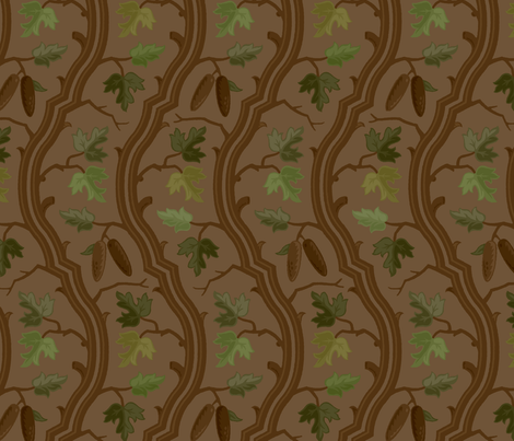 Forest Serpentine 3a fabric by muhlenkott on Spoonflower - custom fabric