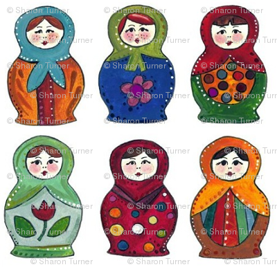 little matryoshka dolls