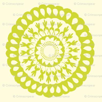 Lime Green Signature Medallion
