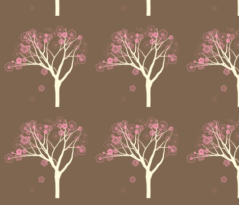 sakura-3 fabric by crimsonpear on Spoonflower - custom fabric