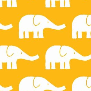 MEDIUM Elephants in yellow