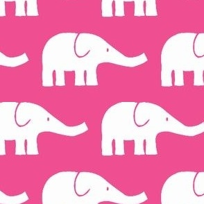 MEDIUM Elephants in dark pink