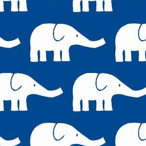 MEDIUM Elephants in blue