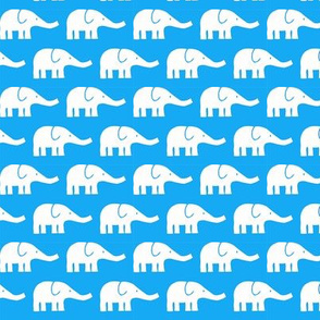 SMALL Elephants in blue