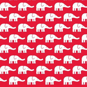 SMALL Elephants in red