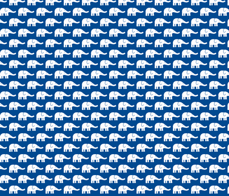 SMALL Elephants dark blue  fabric by katharinahirsch on Spoonflower - custom fabric