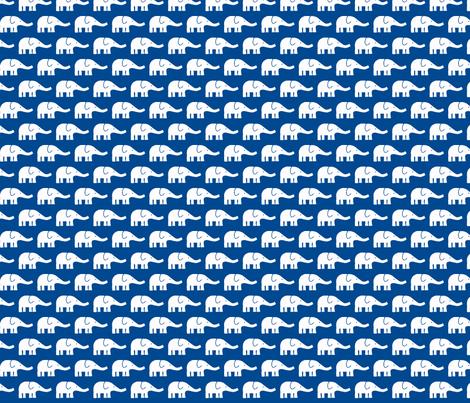 SMALL Elephants dark blue  fabric by katharinahirsch on Spoonflower - custom fabric