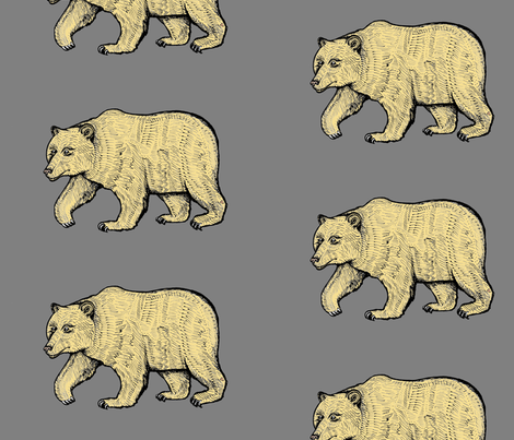 Hungry Bear fabric by taraput on Spoonflower - custom fabric