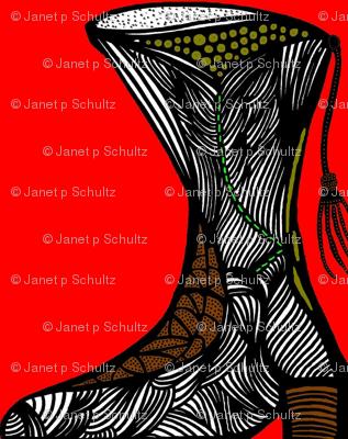 JamJax Red Boot