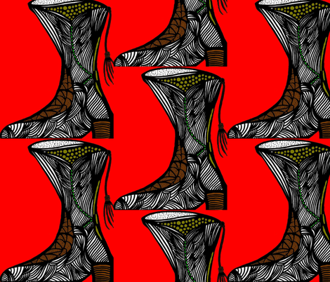 JamJax Red Boot fabric by jamjax on Spoonflower - custom fabric
