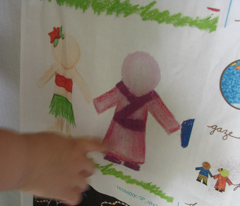 International Children Paper Dolls in Crayon
