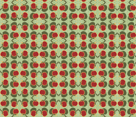 Apple Harvest fabric by cutiepoops on Spoonflower - custom fabric