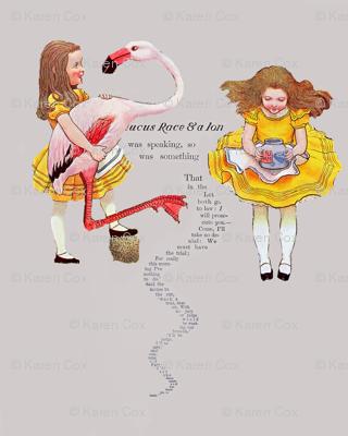 Alice and the Flamingo