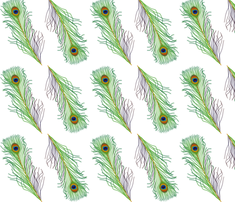 Peacock feathers fabric by jasmo on Spoonflower - custom fabric